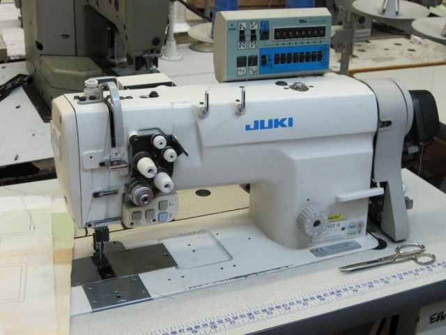 Used juki lh 3162 4 1 4 twin needle feed electric for 1 4 hp ac motor